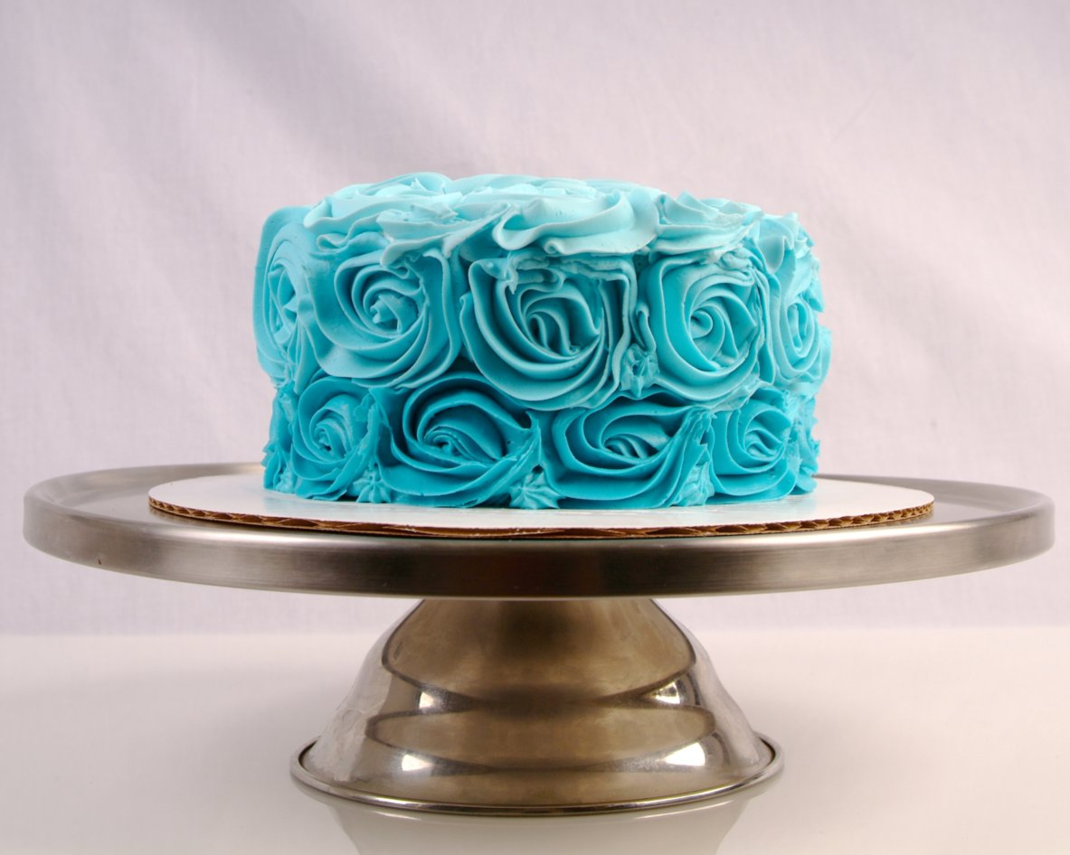Blue Cake on Stand