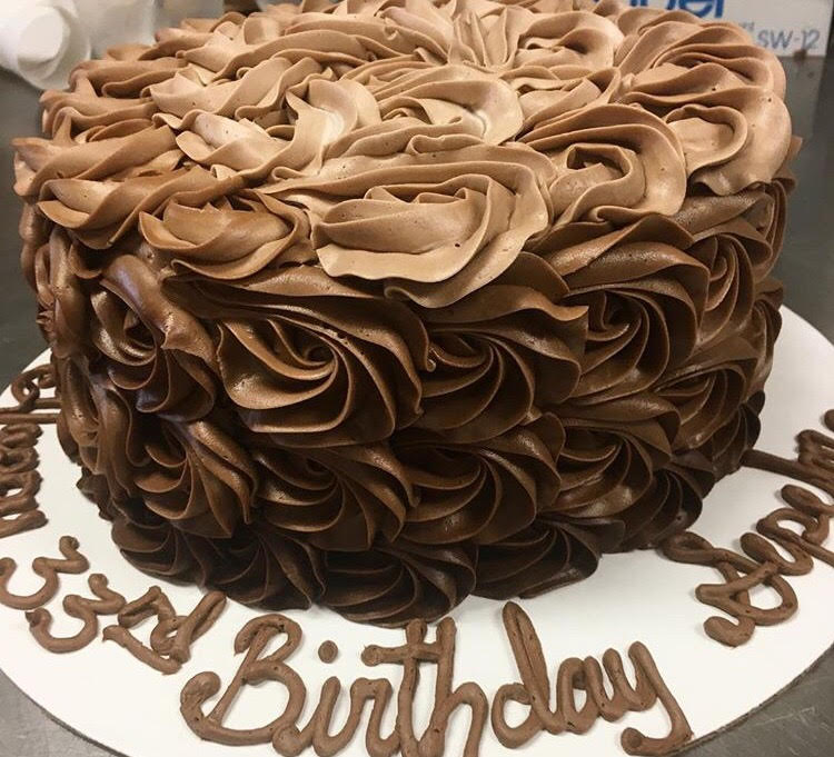 chocolate ombre rosette